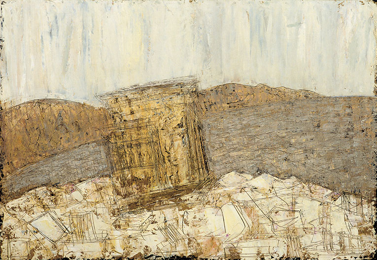 Athens 2 (Eurecthyon), 1953,  olio e oro su masonite, 100x145 cm