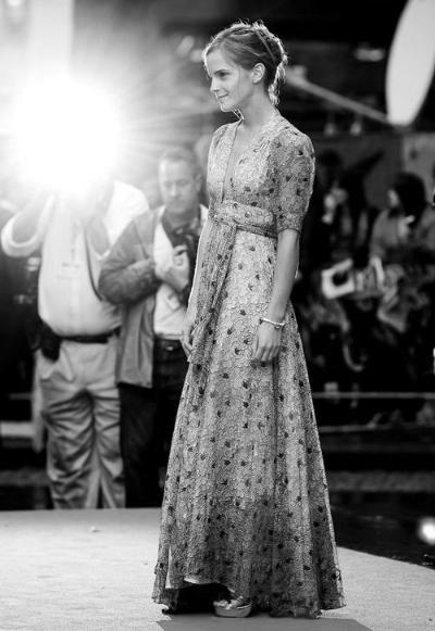 Emma Watson in vintage Ossie Clark