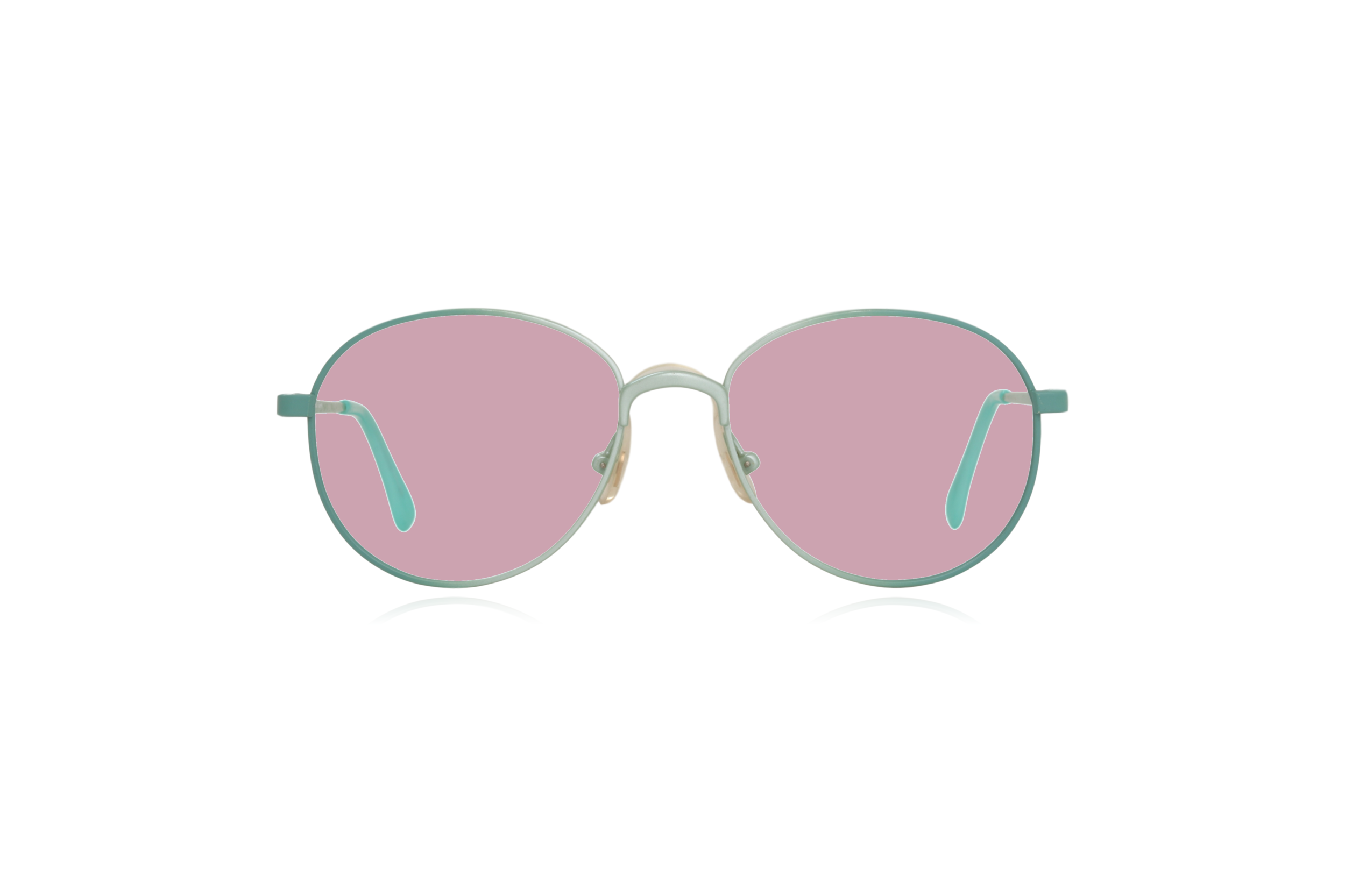 Peep Eyewear, Vintage Glasses, Round, Mint Green, Candy, Pink.png