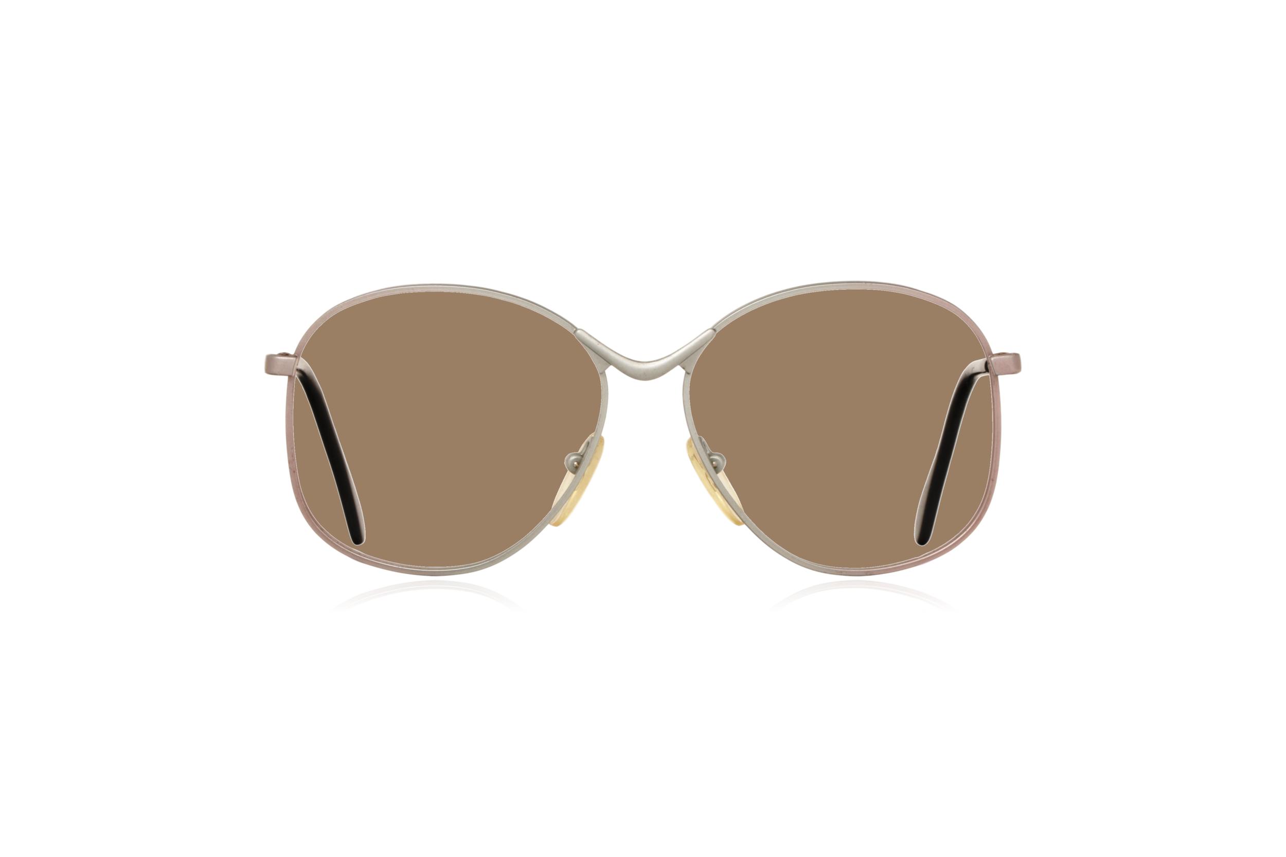 Peep Eyewear, Vintage Glasses, Metal, Silver, Birdie, Front, Sahara.png