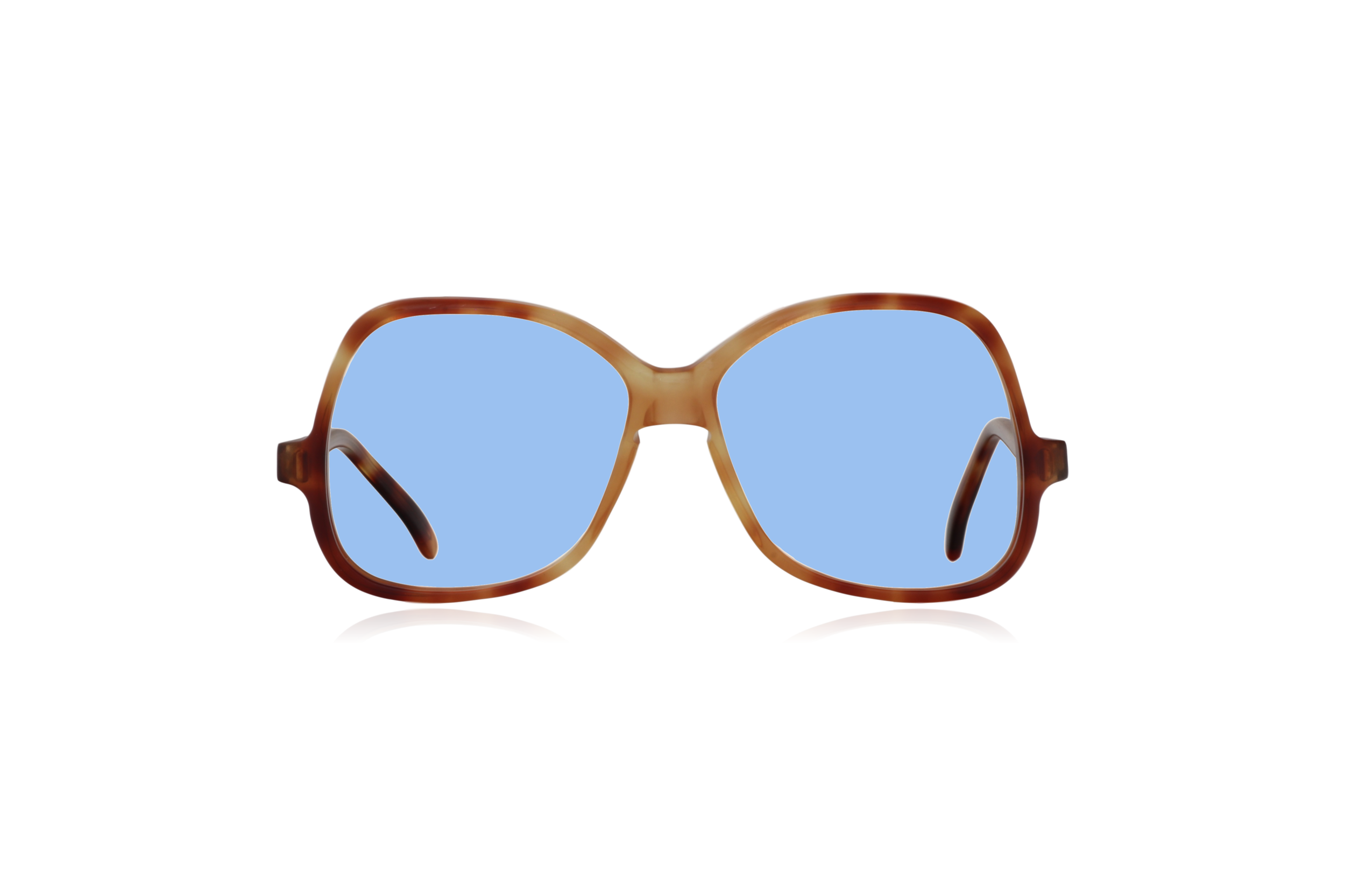 Peep Eyewear, Vintage Glasses, Honey by Bausch & Lomb, Oversize, Front, Blue.png