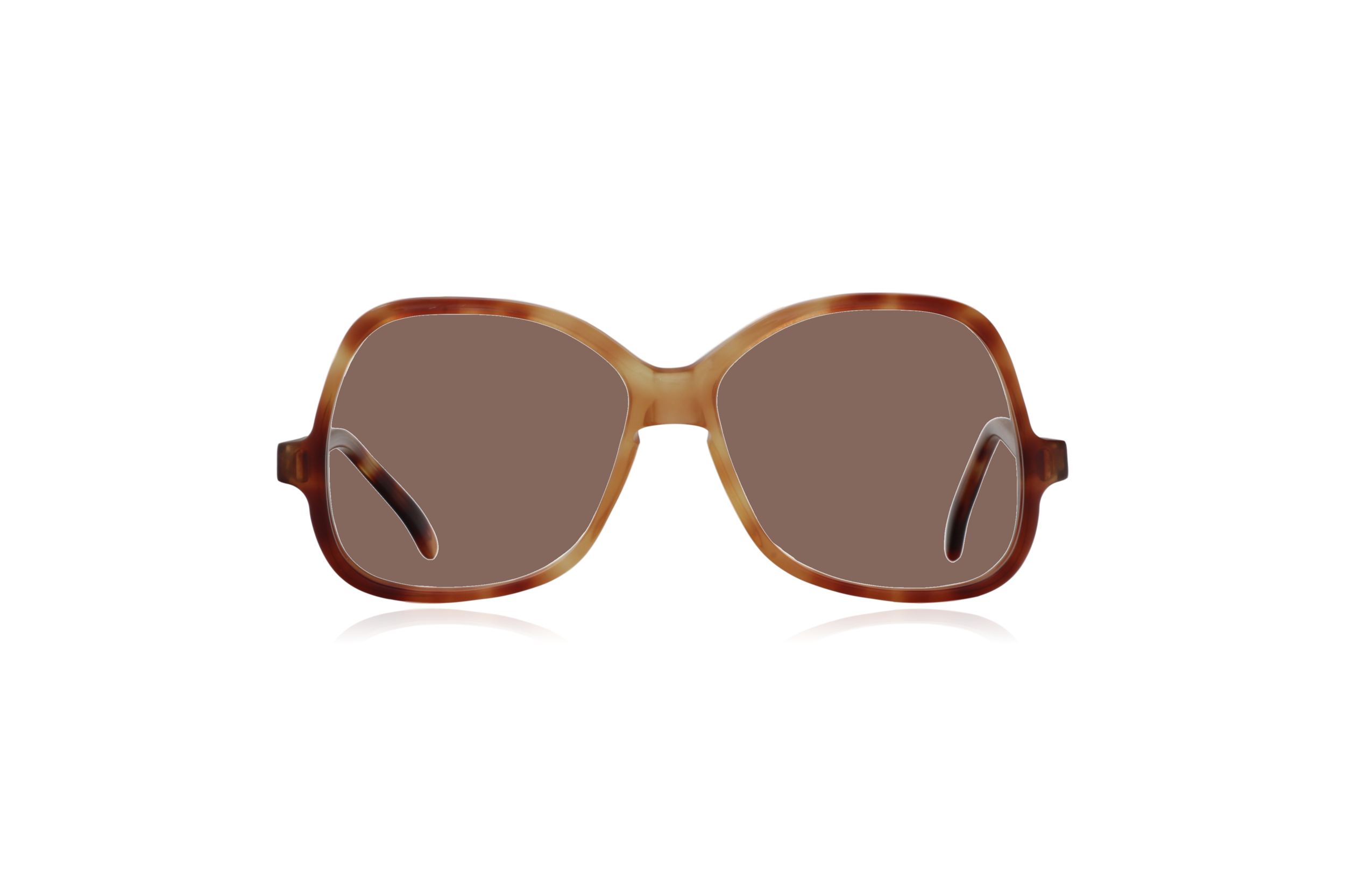 Peep Eyewear, Vintage Glasses, Honey by Bausch & Lomb, Oversize, Front, Brown.png