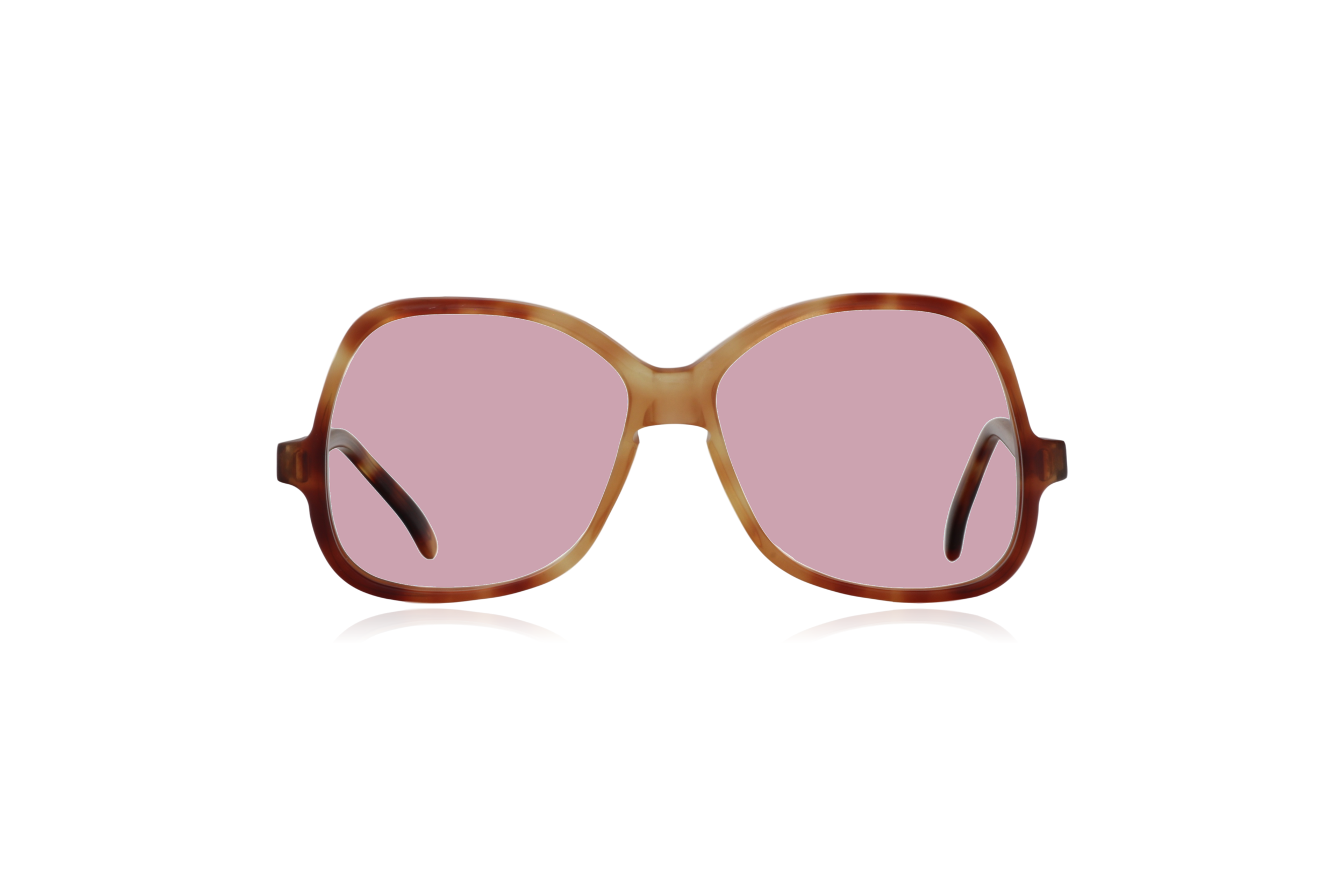 Peep Eyewear, Vintage Glasses, Honey by Bausch & Lomb, Oversize, Front, Pink.png