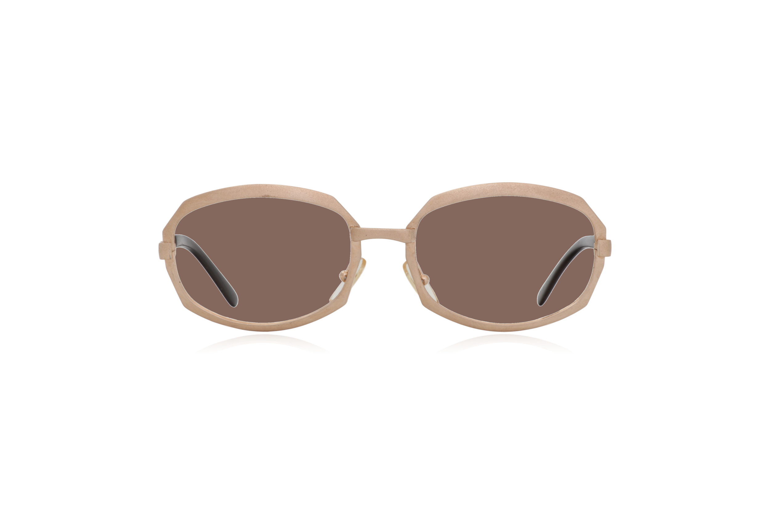 Peep Eyewear, Vintage Glasses, Gold Metal, Vicky, Cahours De Virgile, Paris, Front, Brown.png
