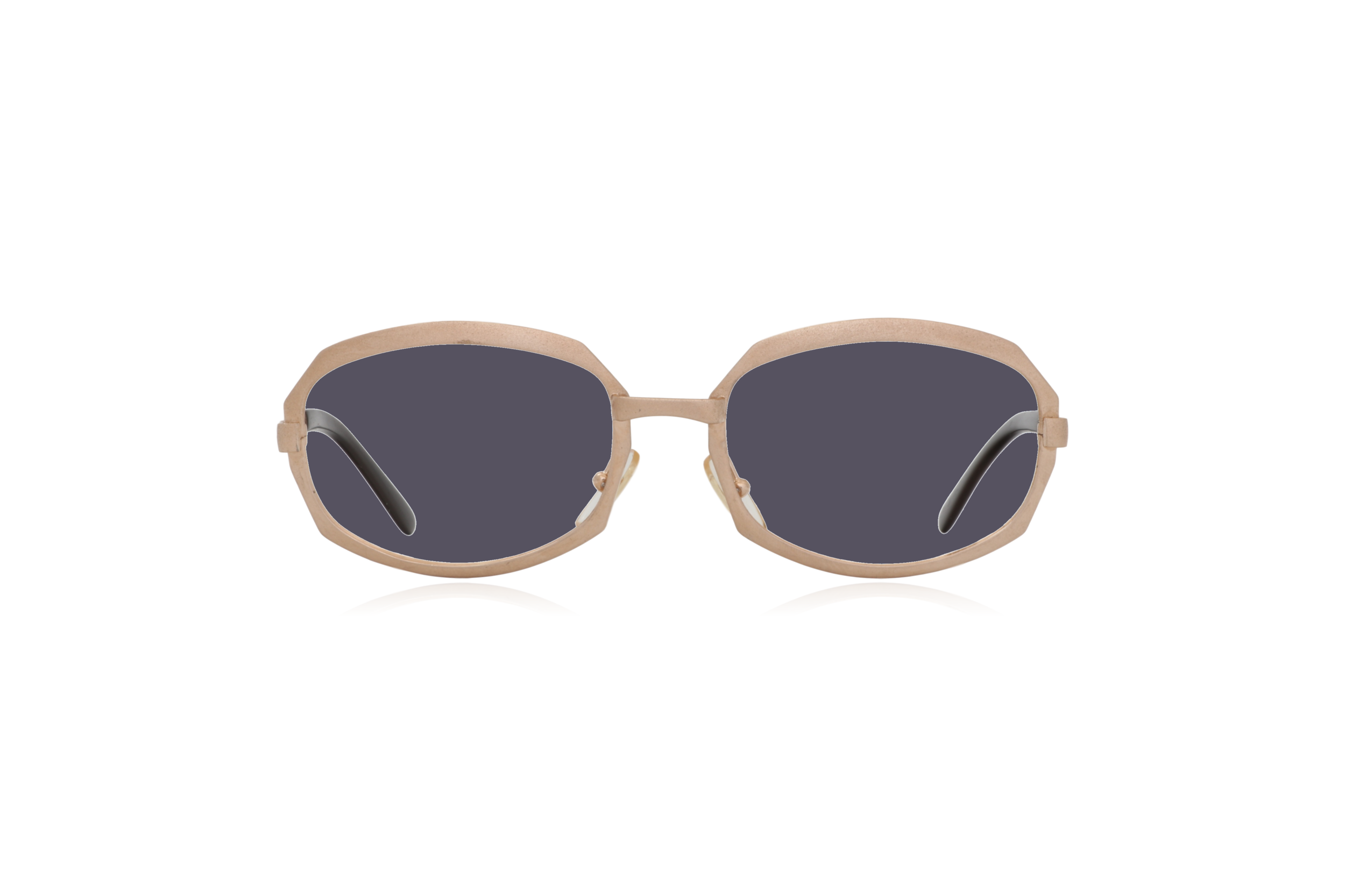 Peep Eyewear, Vintage Glasses, Gold Metal, Vicky, Cahours De Virgile, Paris, Front, Grey.png