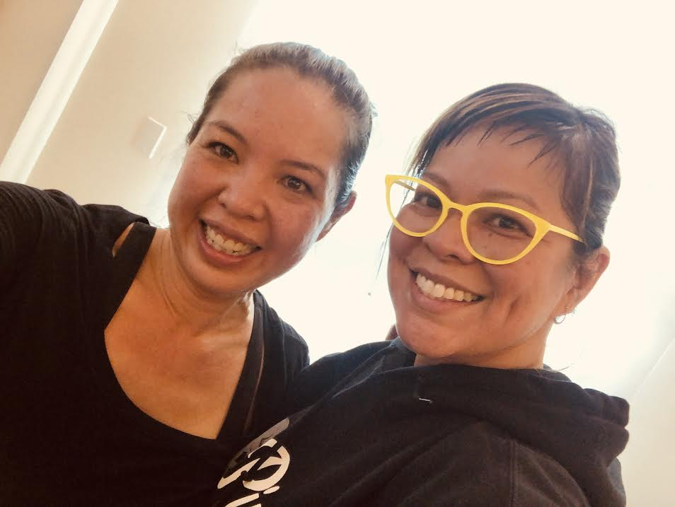 My Soul Cycle partner in crime, friend and writer - Professor Annalisa Enrile. Fun times we had!