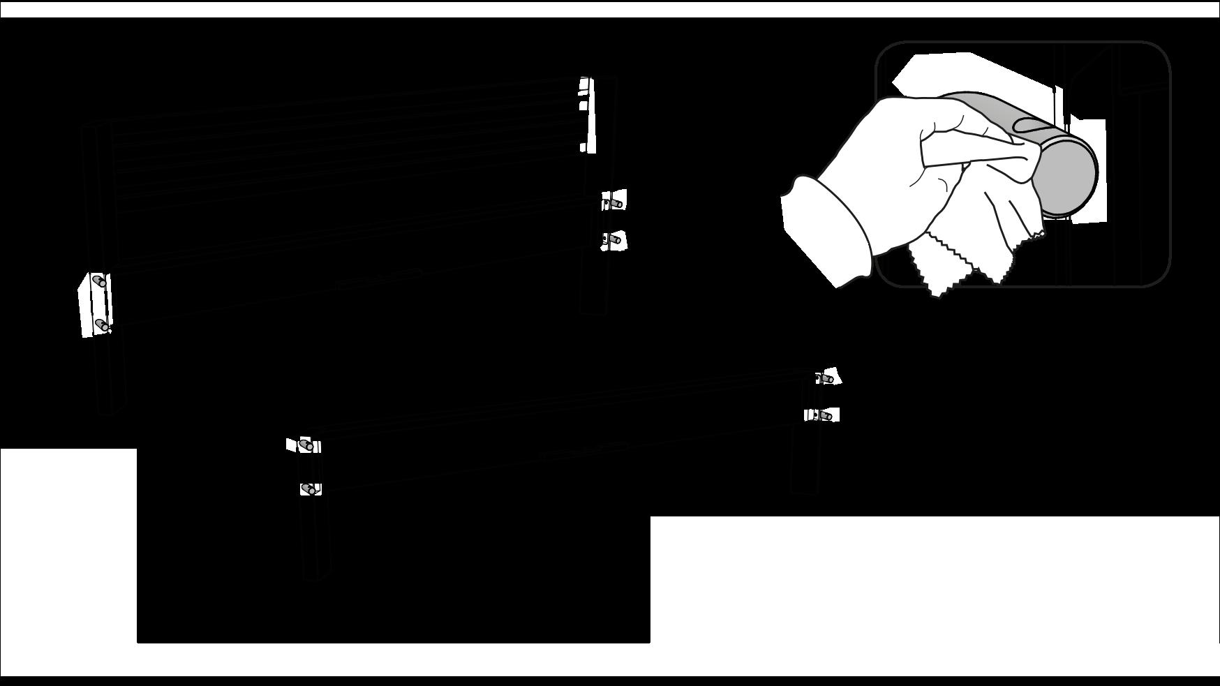 Schritt 01 - Verbindungsdübel mit Palmenwachs einreiben.