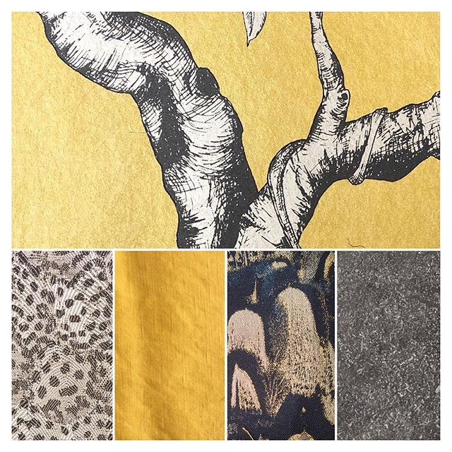 I loved putting this scheme together! So excited share more of this with you soon! . . #dramatic #yellow #pattern #silk #granite #drawingroom #luxury #traditional #instahome #interiordesign #interiors #interiordesigner #leamingtonspa #warwickshire #cotswolds #sarahahluwalia #inspiration #interiorsinspo #inspo #moodboard #designscheme #scheme