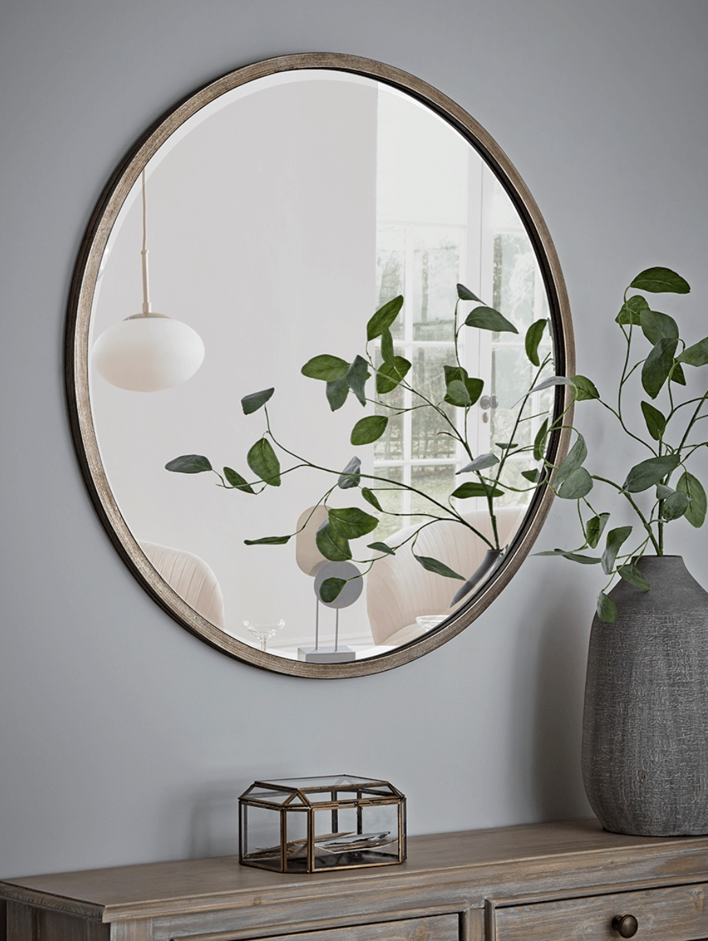 Image and mirror via  Cox & Cox . Mirrors are excellent for dining areas as it's believed that the doubling of the food symbolizes abundance for the household.