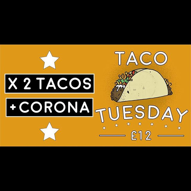 It's Taco Tuesday tomorrow! Come down and have some fun and good food!