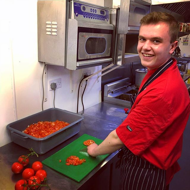 Our lovely chefs are working hard prepping for a busy Friday night! #amigos #mexican #amigosbury #burystedmunds #chef