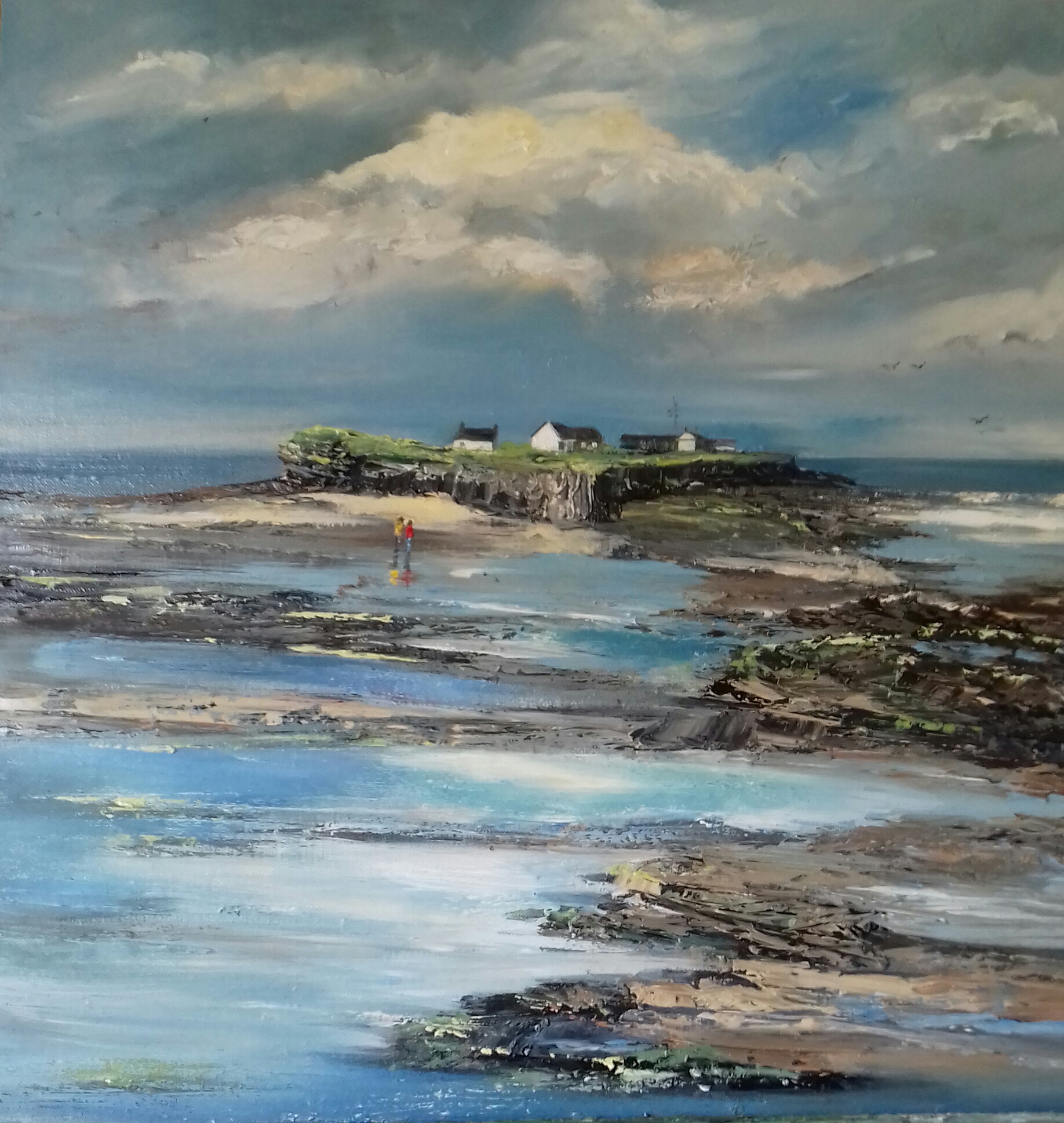Hilbre Island Perspectives - We are excited to welcome back Jane Morrow who has once again captured brilliantly the drama and atmosphere of Hilbre Island and the surrounding estuary.Let these paintings wash over you, take a deep breath of sea air and feel the wind in your hair.Showing throughout September 2018