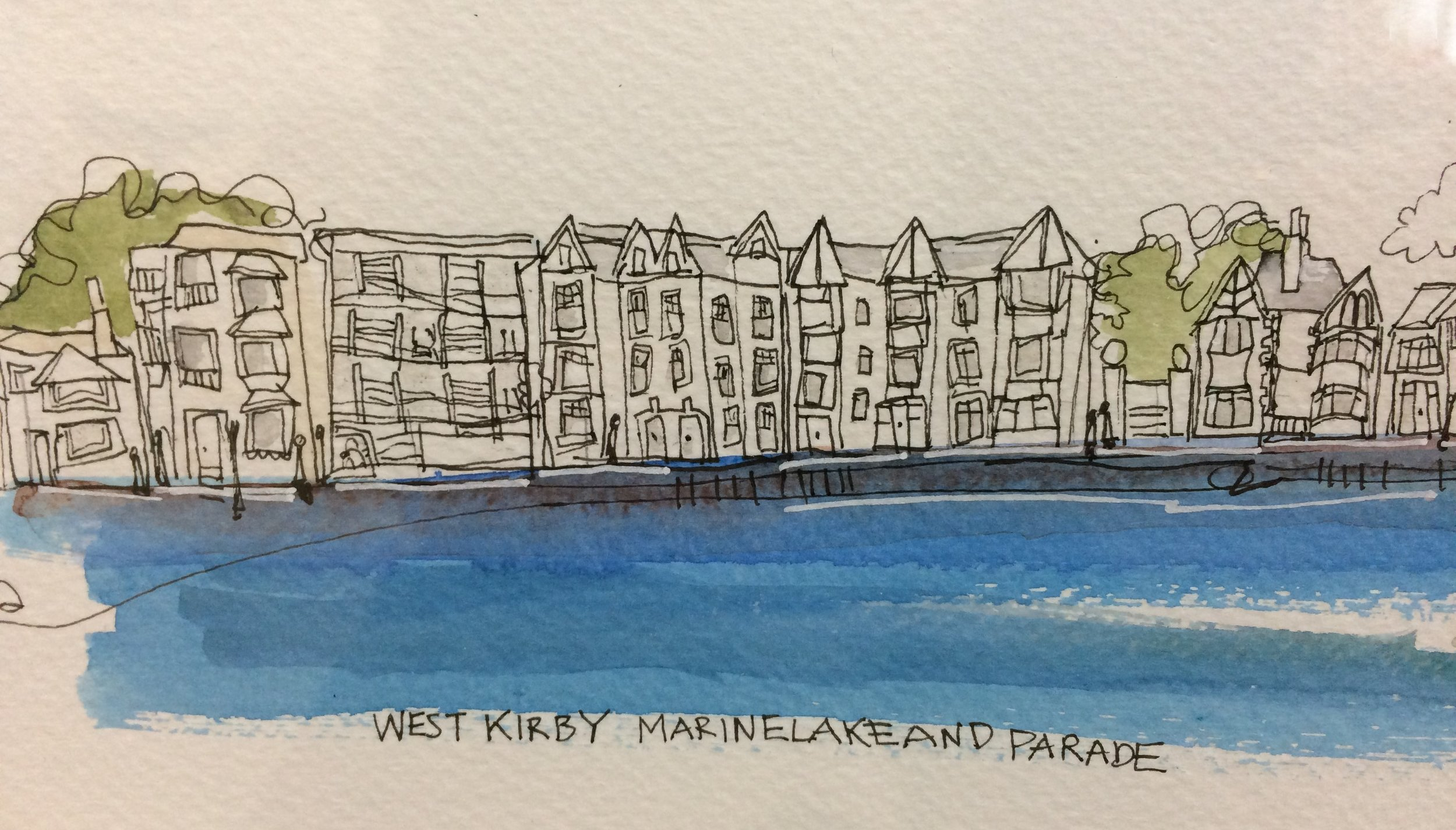 West Kirby Marine Lake and Parade (detail)
