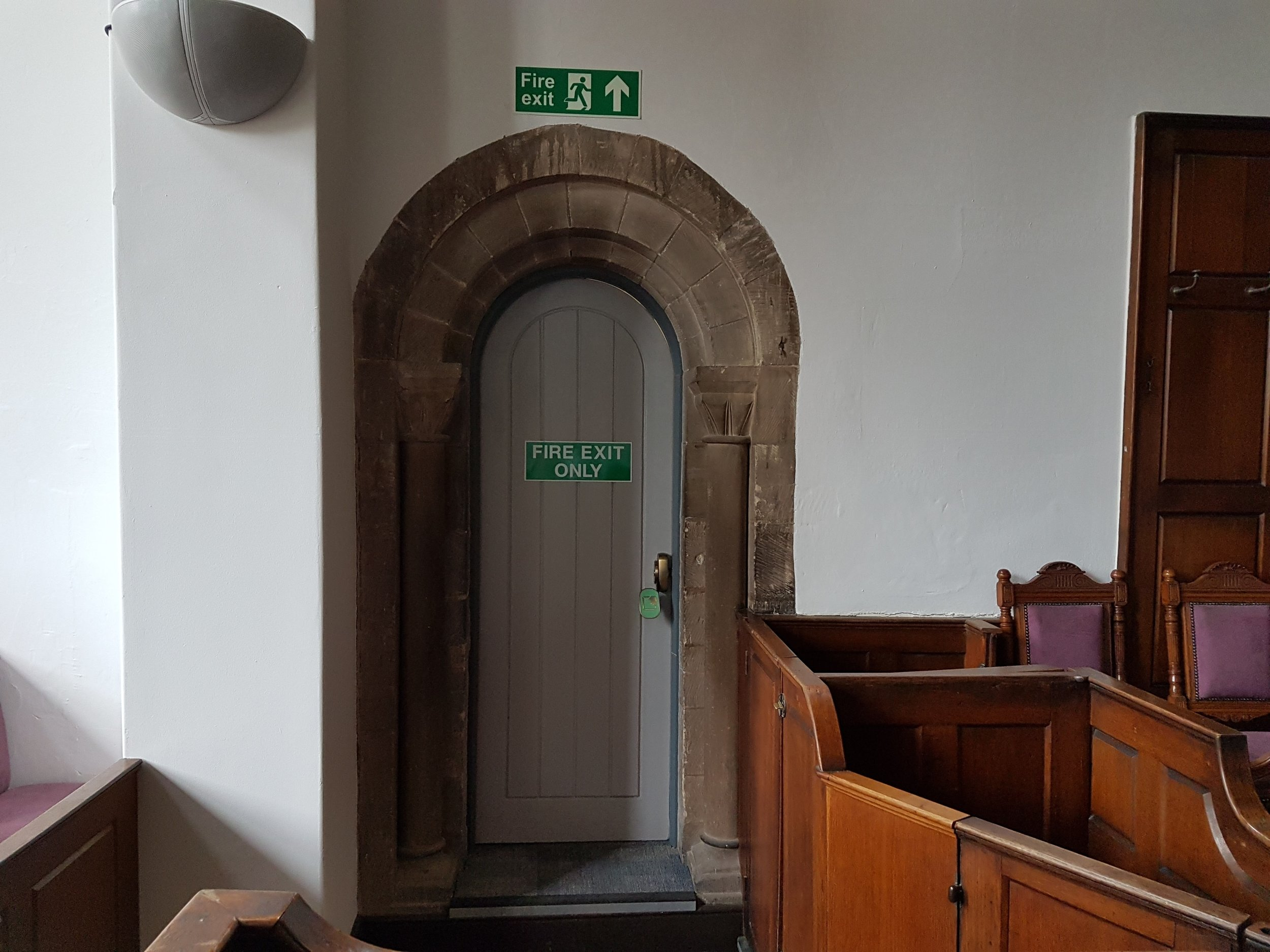 Door with Norman decoration