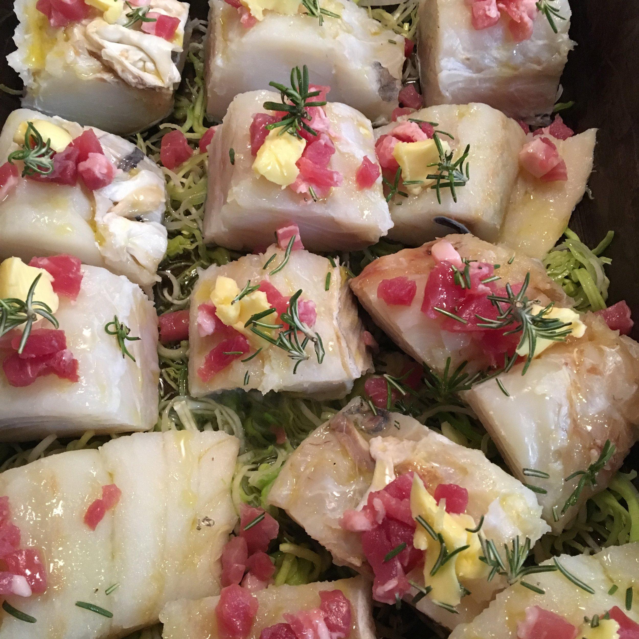 Christmas Codfish before oven