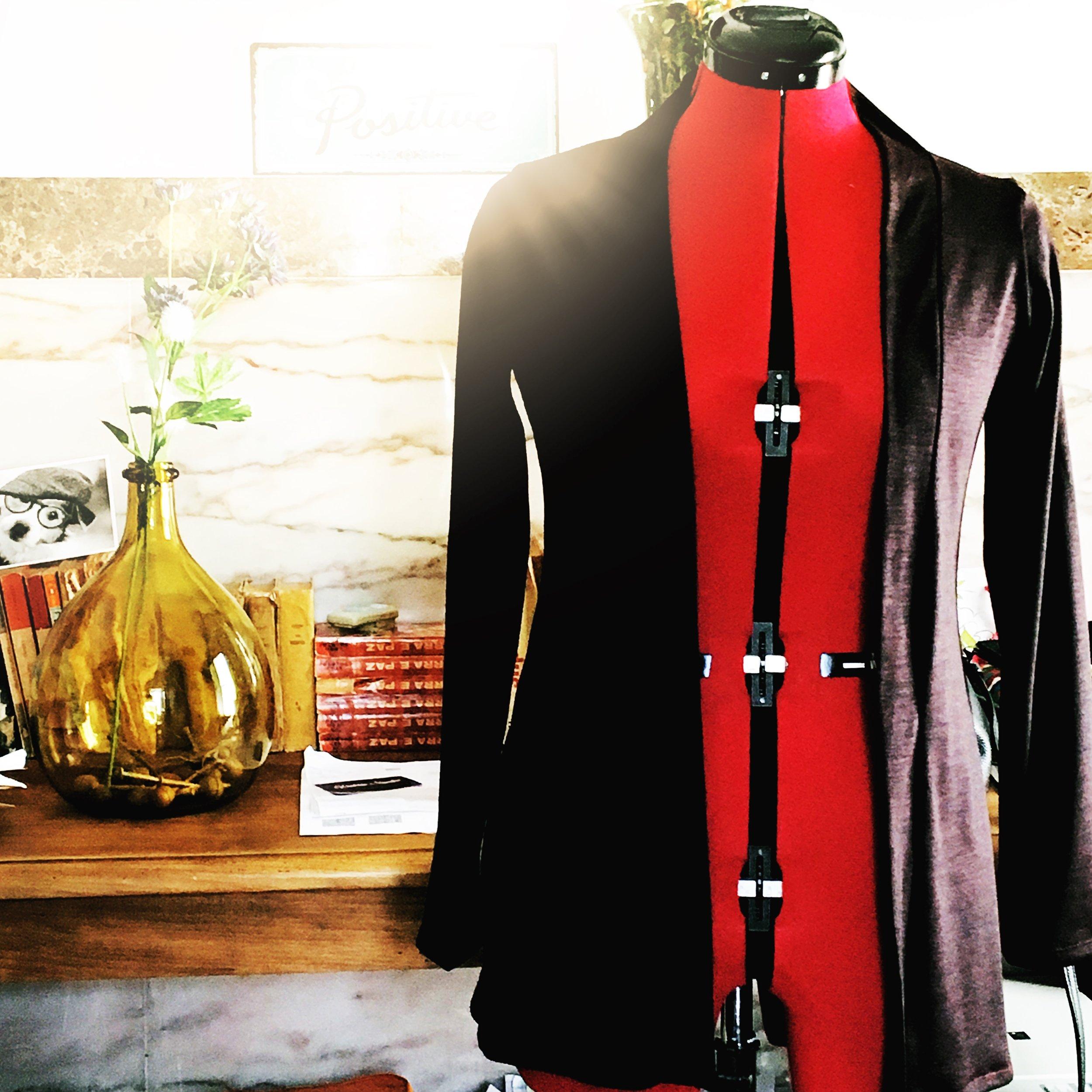 The  blackwood cardiga n in  aubergine wool jersey