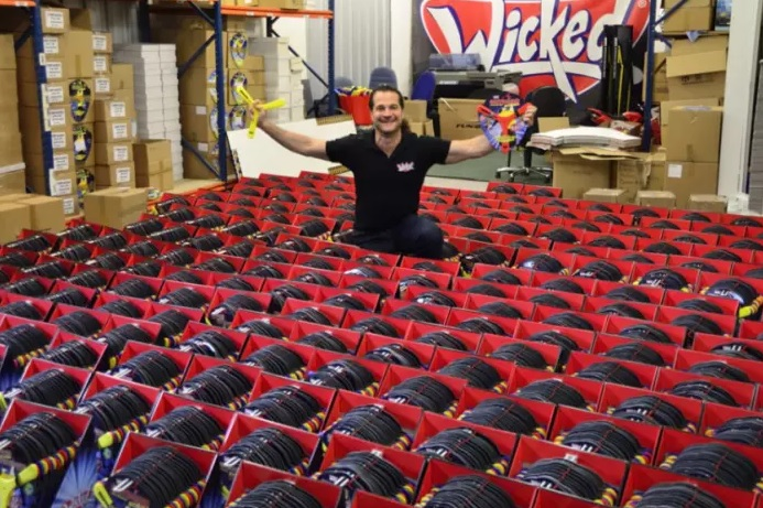 Wicked Vision MD David Strang with the Boomas he sells to Australia