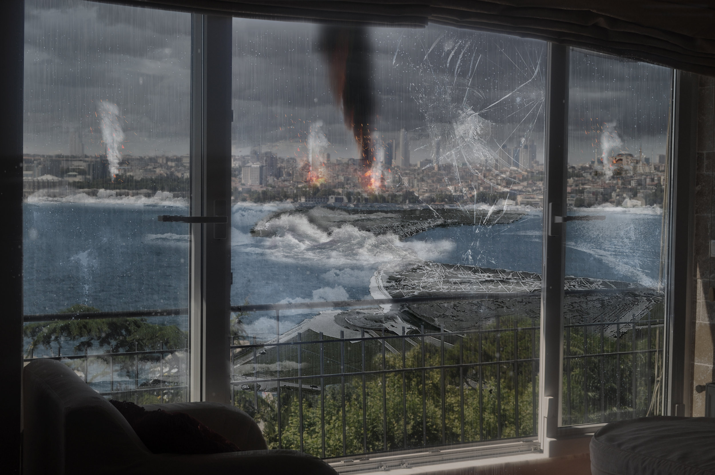 Bosphorus, after the expected earthquake in Istanbul in 50 years