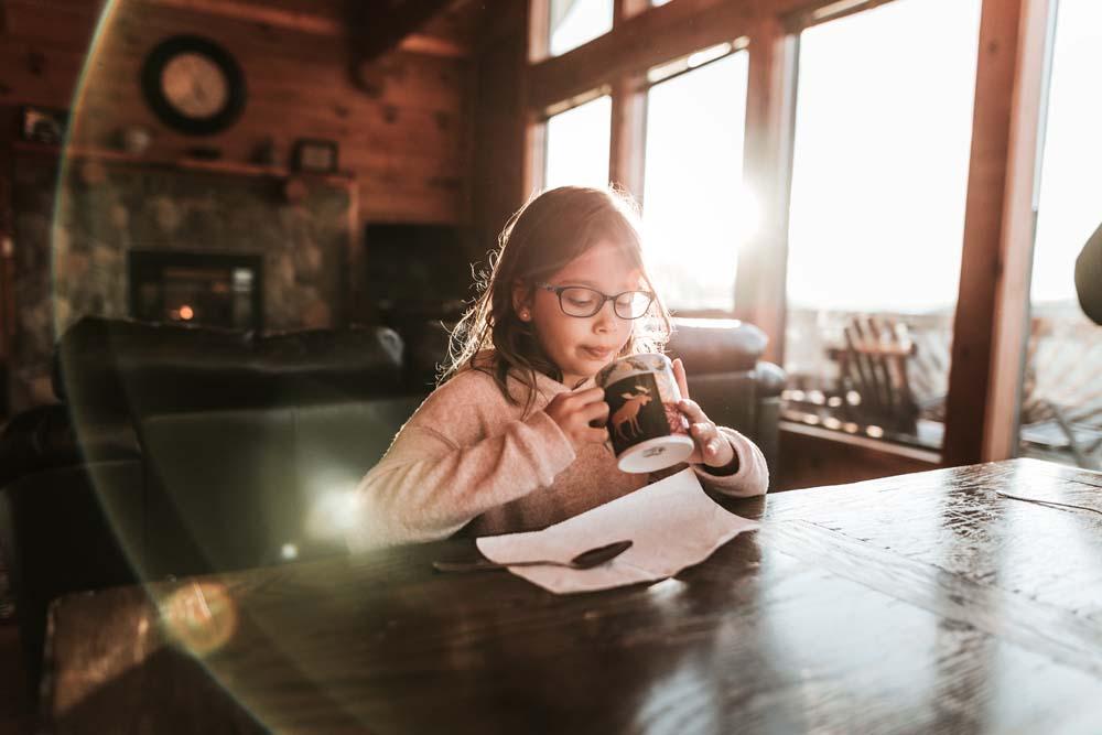 4/365: Hot cocoa + sunflare.