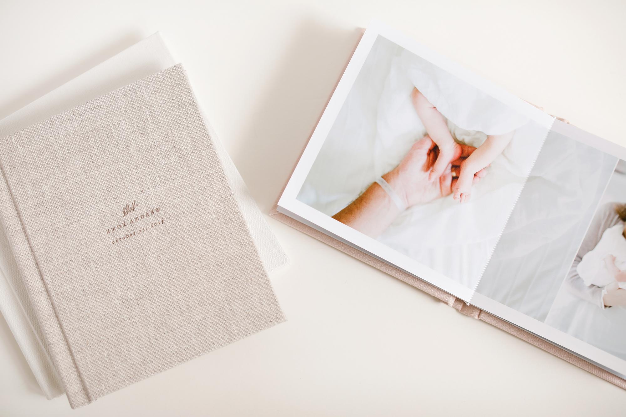 raleigh-lifestyle-newborn-film-photographer-albums-baby-books