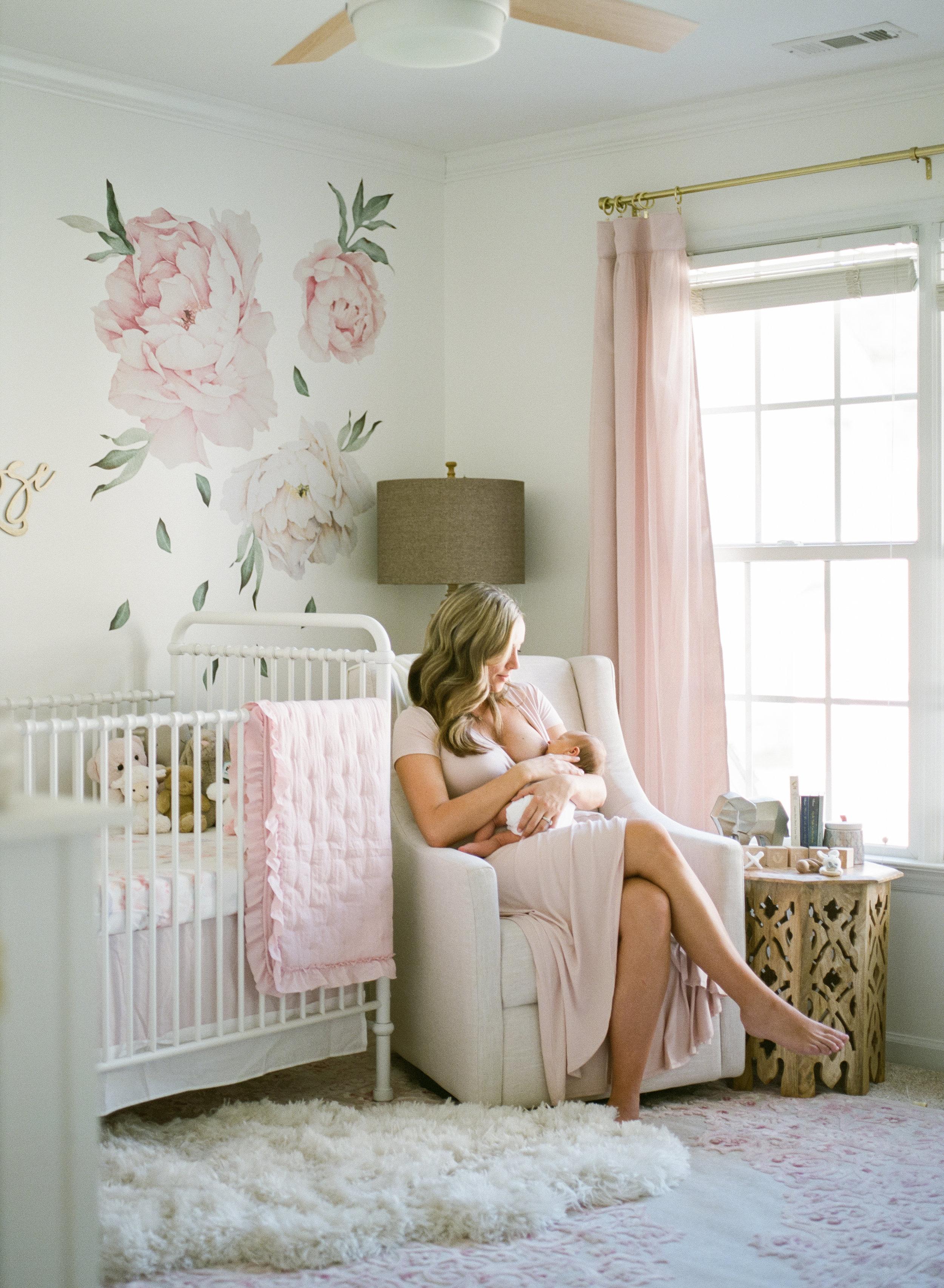 raleigh-newborn-photographer-baby-beautiful-nursery-floral-wallpaper-photography