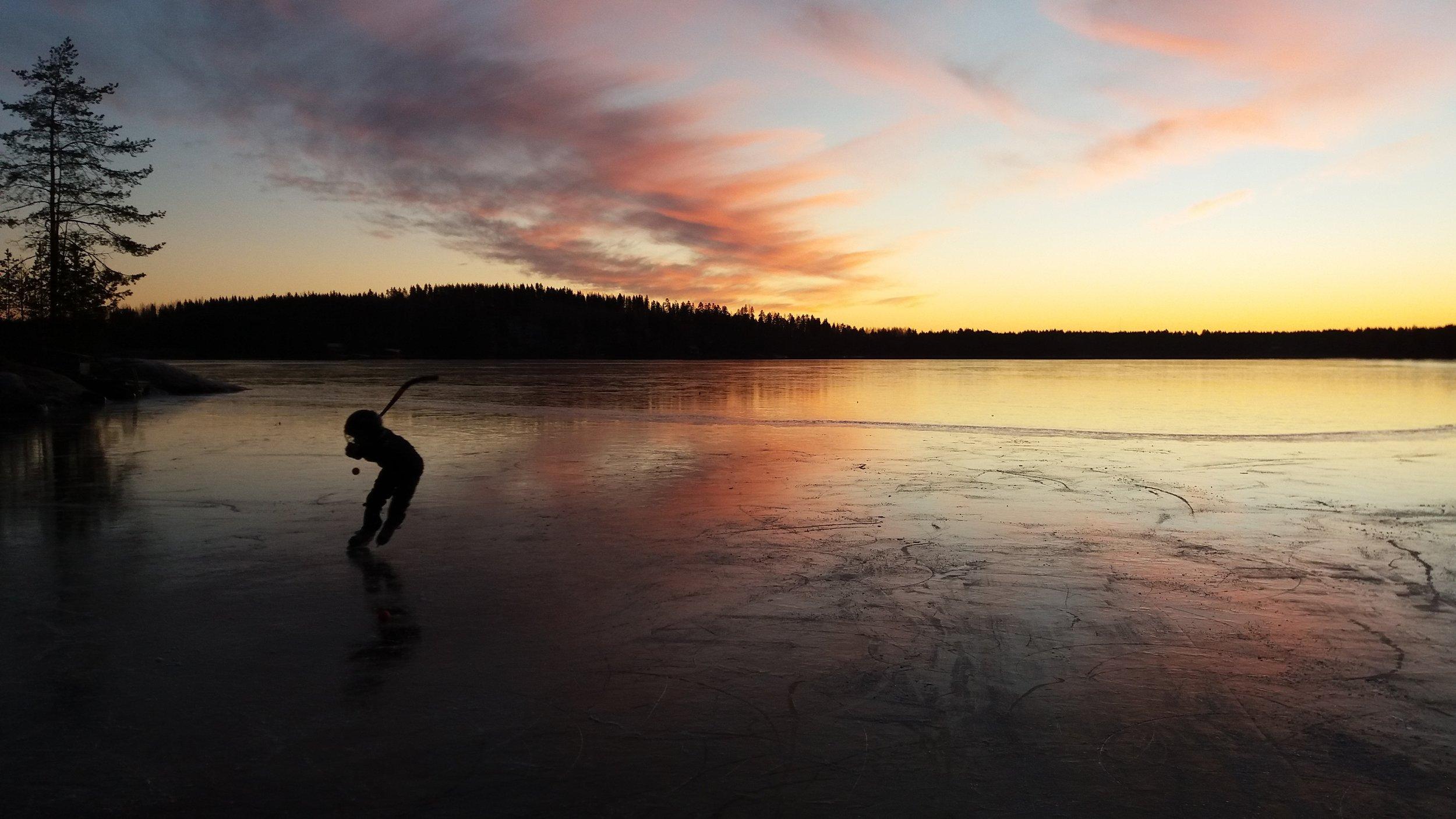 Näsijärvi, joulukuu 2016. Kuva: Lina Laurent.