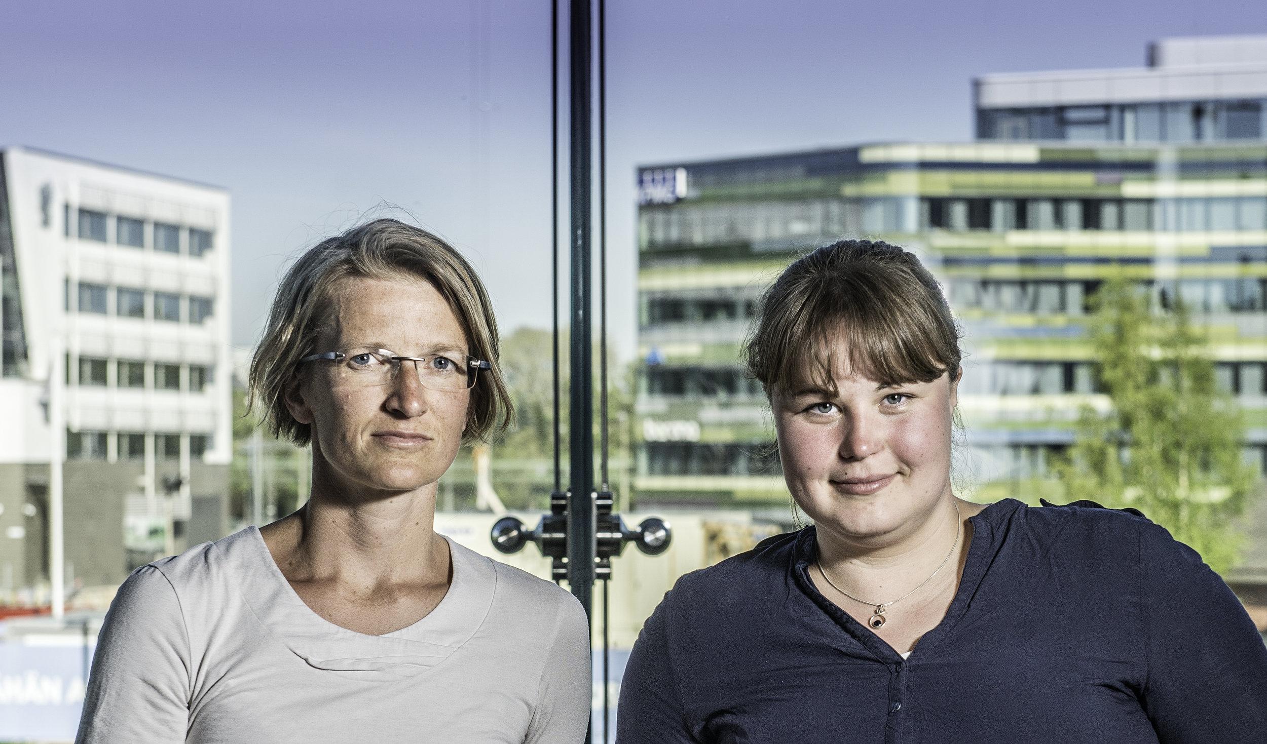 År 2016 bestod Grävgruppens kärntrupp av Lina Laurent och Annica Lindström, vilka också kunde beställas för föreläsningar. Foto: Karl Vilhjálmsson, 2016.