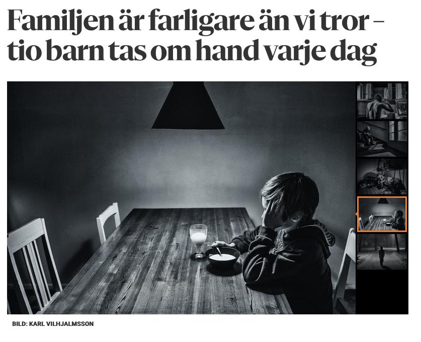 Omfattande reportage om barnskyddet i Helsingfors i  Hufvudstadsbladet 27 januari 2019 . Intervjuer med socialarbetare och med två familjer som fått hjälp och stöd av barnskyddet. Bilder av Karl Vilhjálmsson.