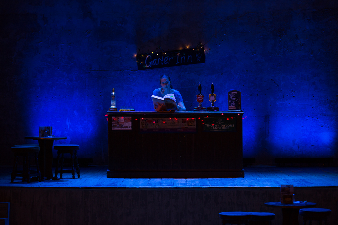 Falstaff   Wiltons Music Hall / Grimeborn   Directed & Designed by Daisy Evans  Lighting by Jake Wiltshire (Photograph by Michael John White)