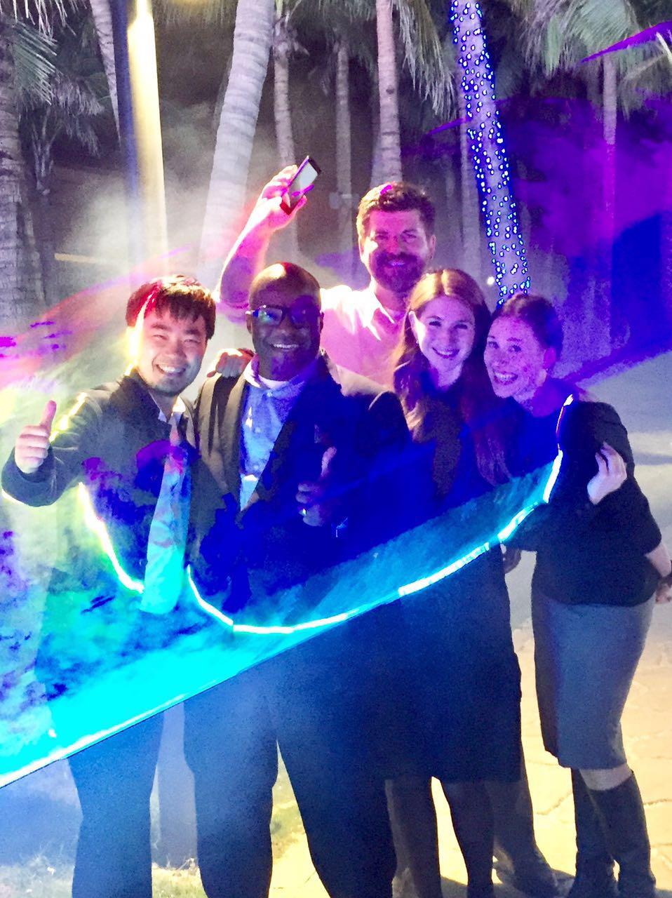 Laser light shows with our entrepreneur host