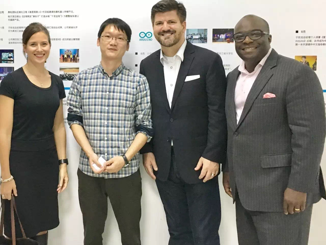 EF Fellows w entrepreneur CEO of Alsrobot