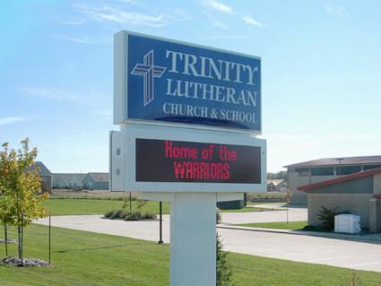 School Sign on Hamilton Ave.