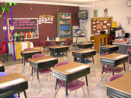 Intermediate grade classroom
