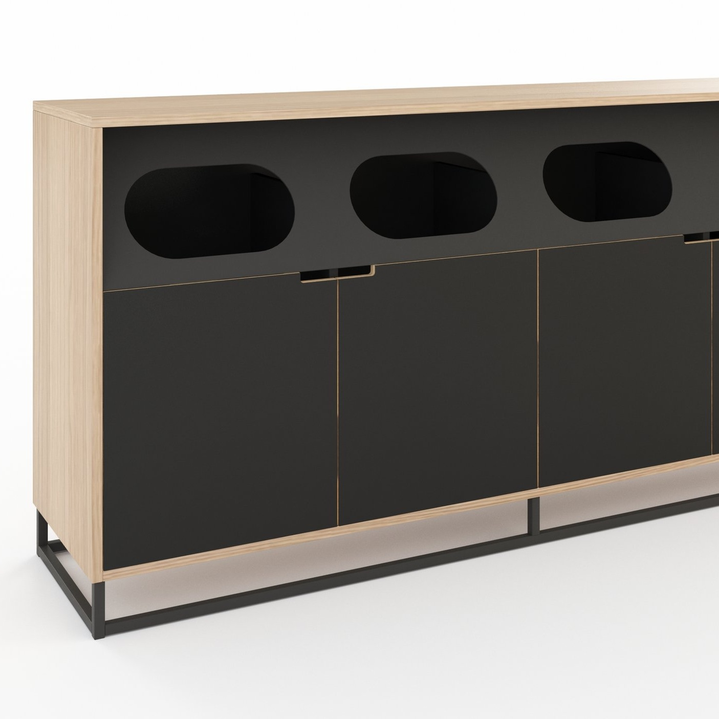 Waste Recycle_Front Loading 3_Sled Square_72W_White Oak_Black Laminate_Midnight.jpg