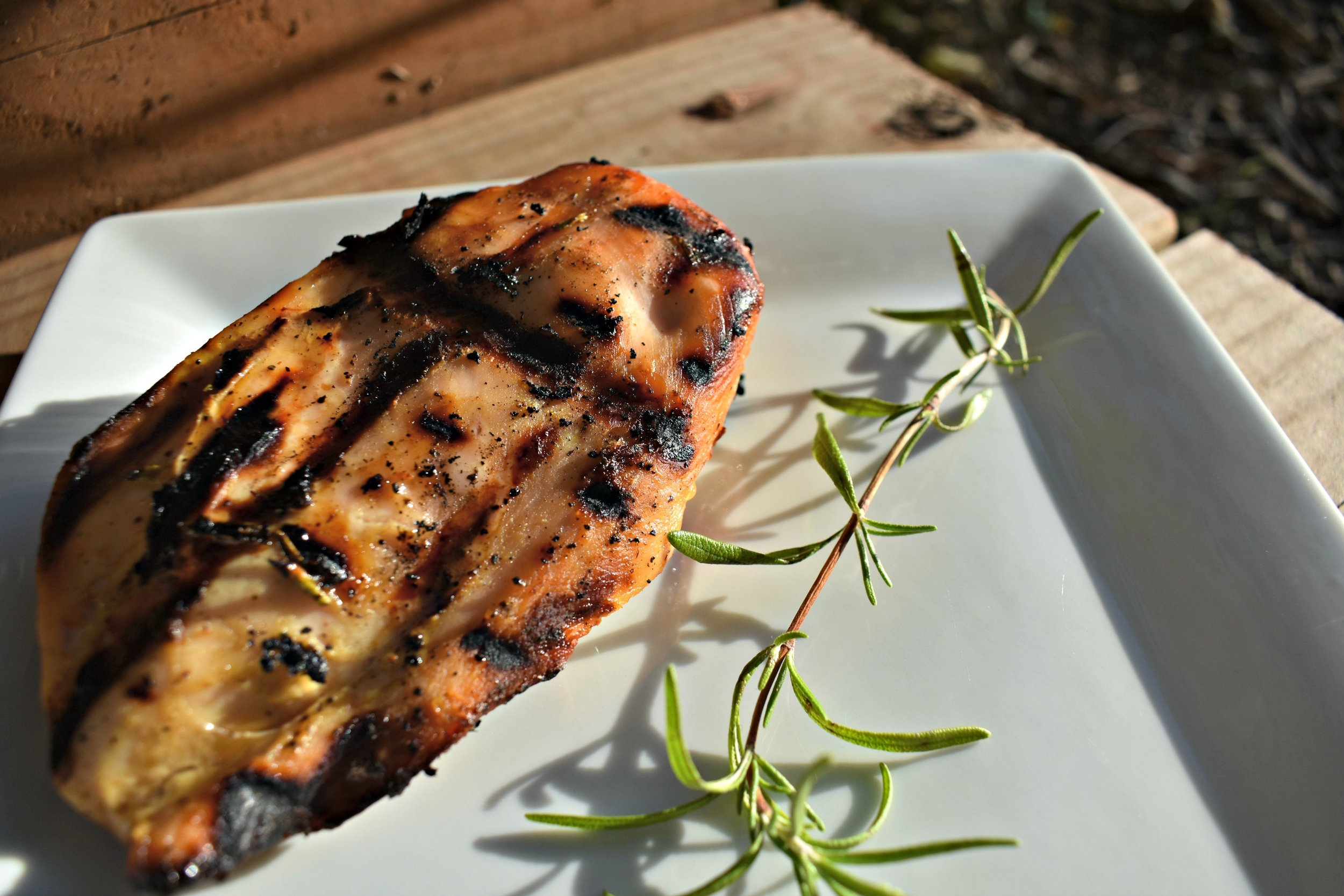 Grilled Honey Mustard Rosemary Chicken