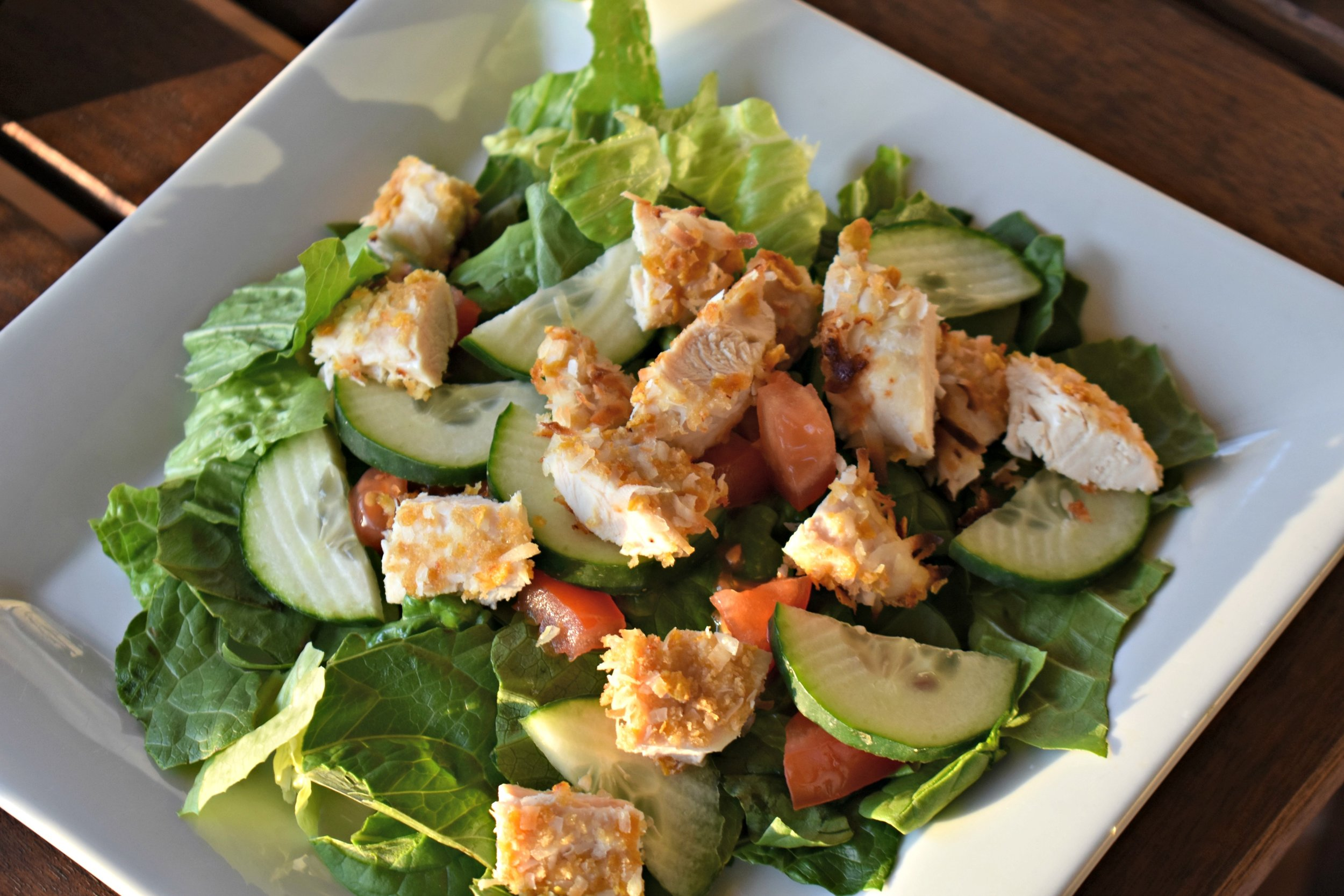 Coconut Chicken Salad with Honey Mustard Vinaigrette