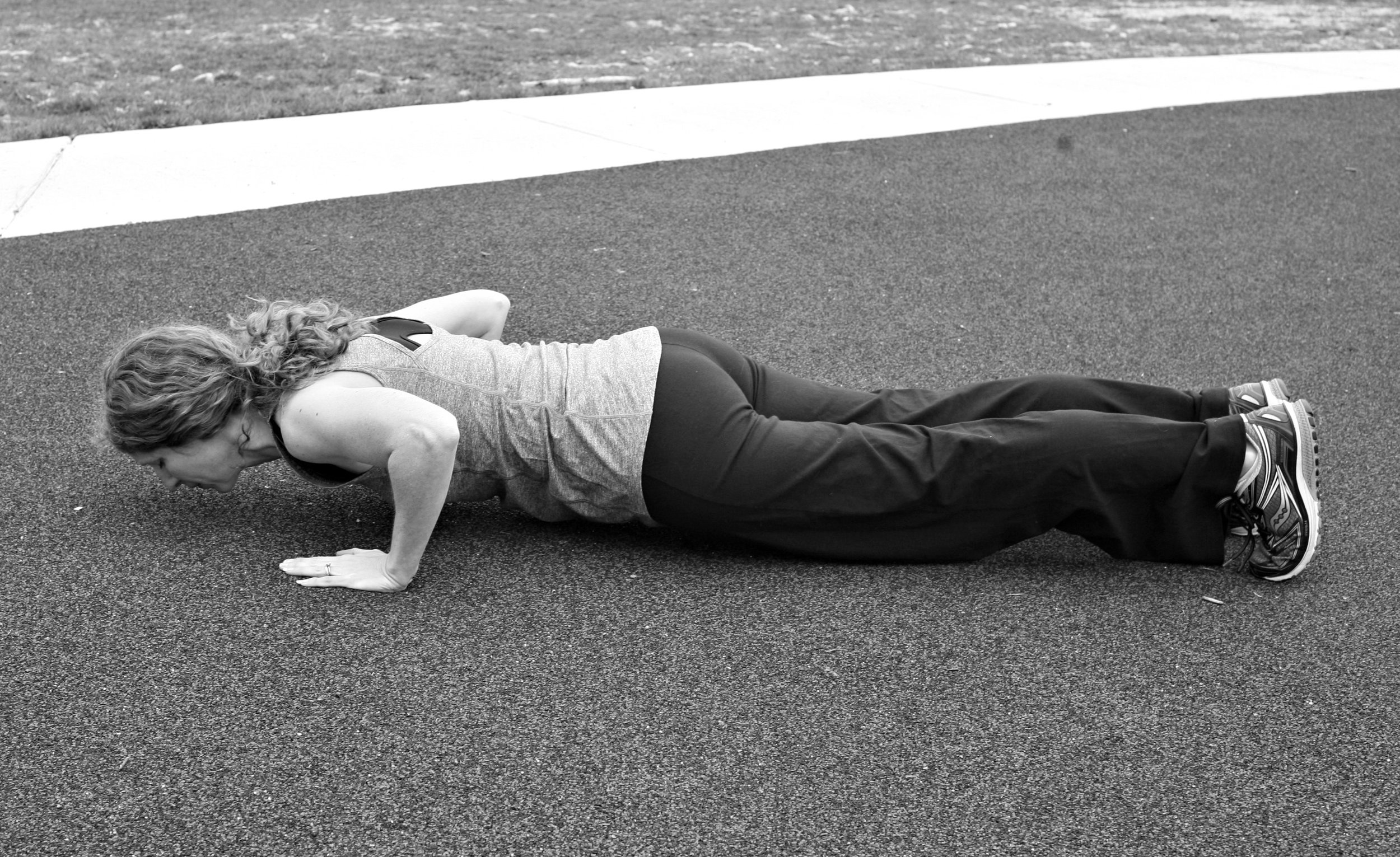 Inhale as you lower down during a push-up and exhale as you push back to the top.