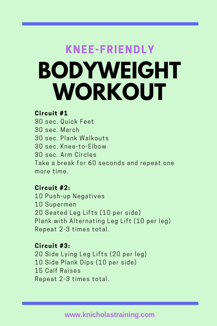 Knee-Friendly Bodyweight Workout