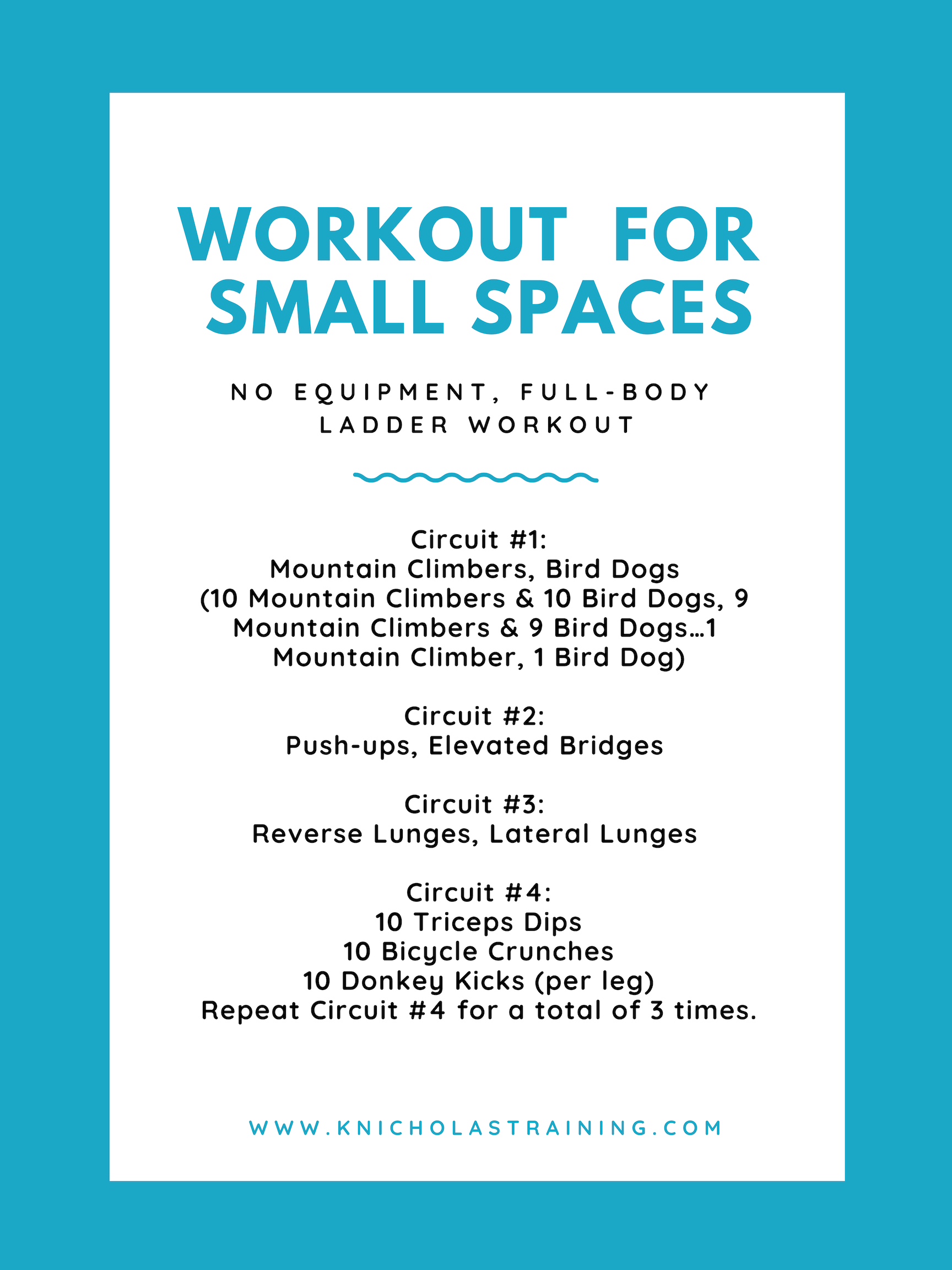 Small Spaces Workout