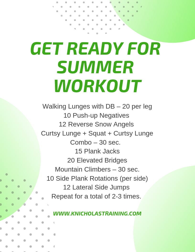 Get Ready For Summer Workout