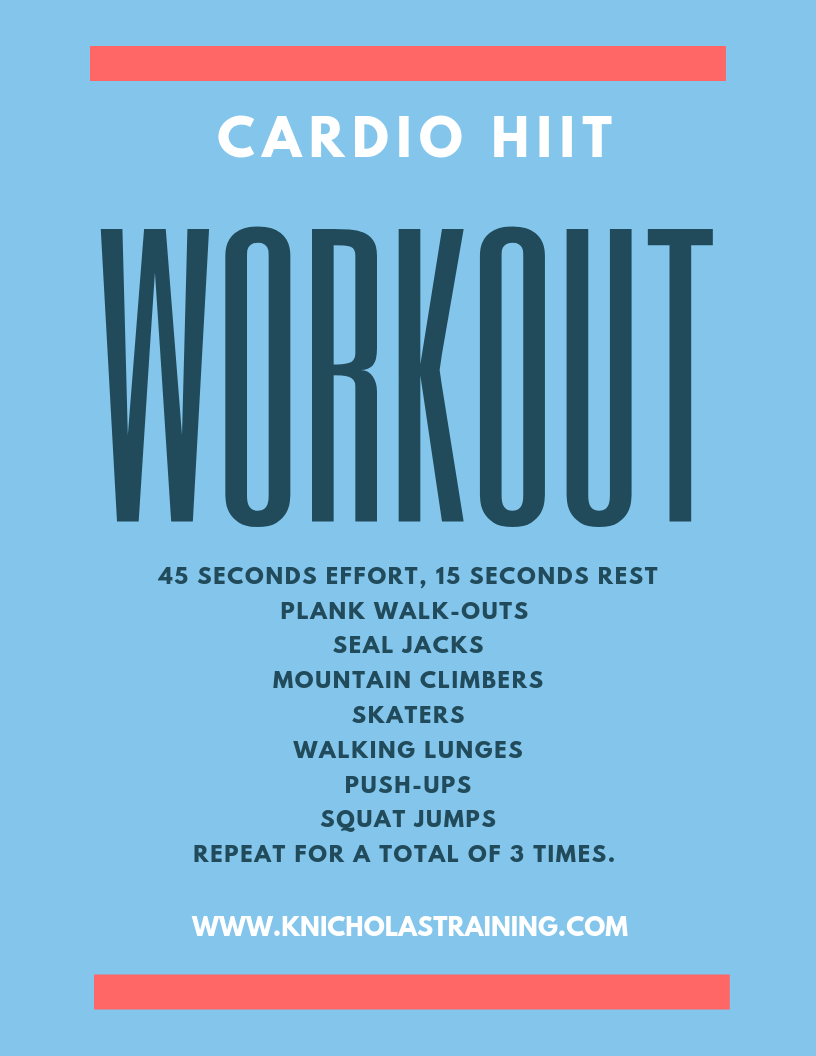 Cardio HIIT Workout You Can Do At Home