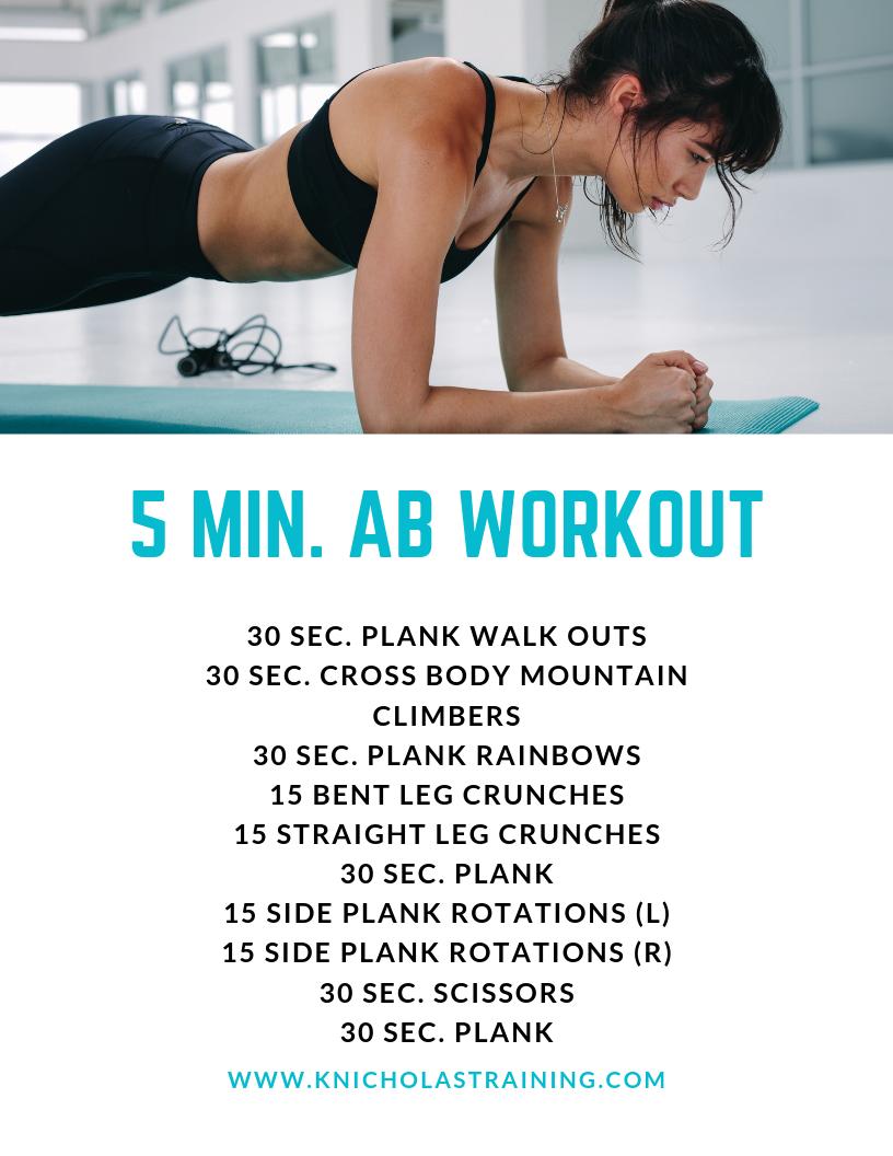 5-Min. Ab Workout