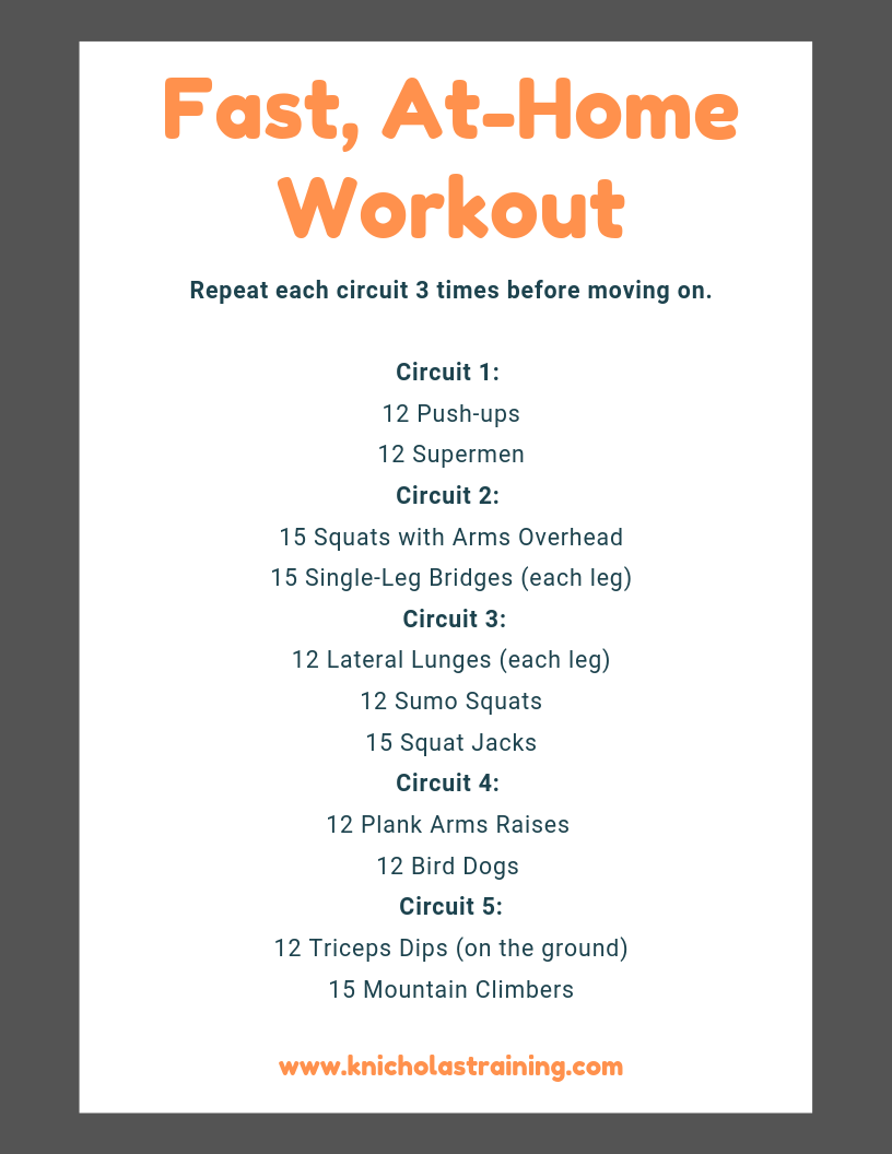 Fast, At-Home Workout