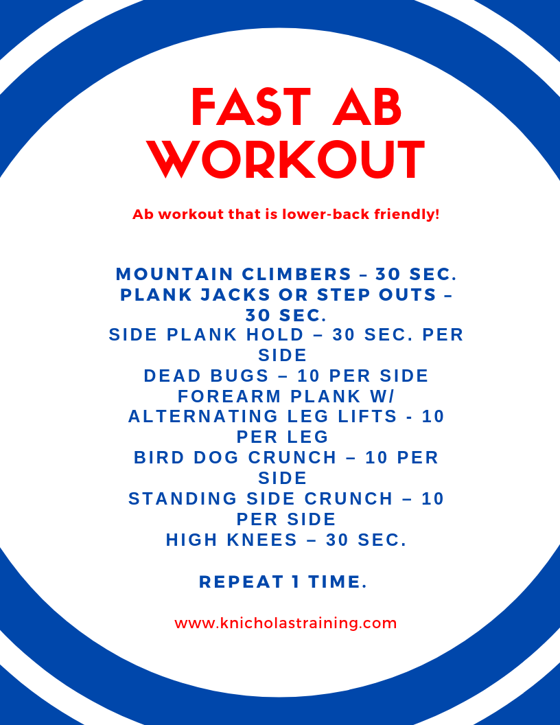 Back-Friendly Ab Workout
