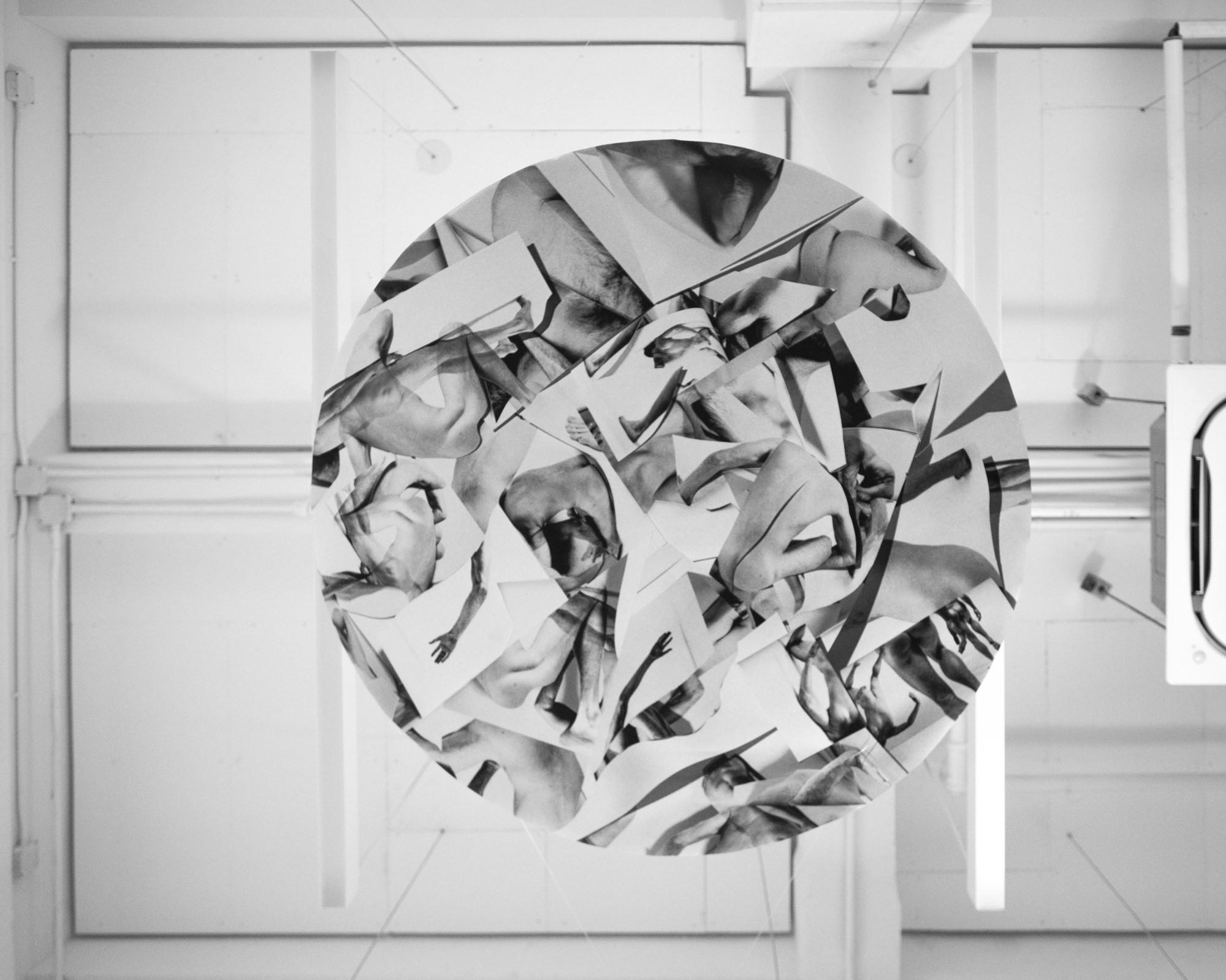 "Scraps, 2019  Inkjet print  65"" diameter"