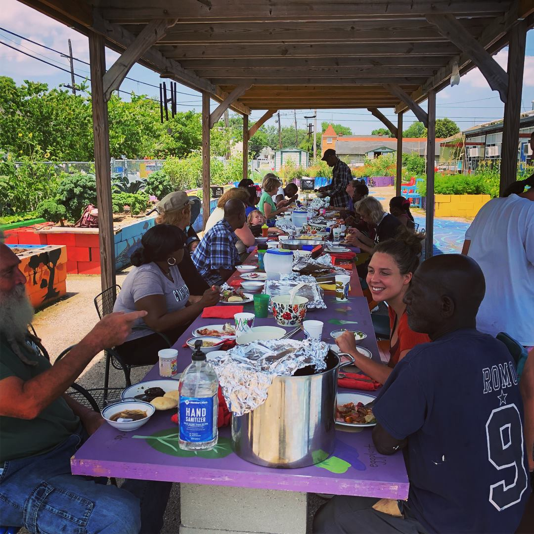 Okra Abbey… - is a sacred space where we grow in friendship and faith alongside one another as we share stories and food - pray, play, and garden together - learning to use the food that we grow to provide care for our local community - especially those in need.