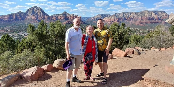 Randy and I visiting Sedona with our friend Sandi.