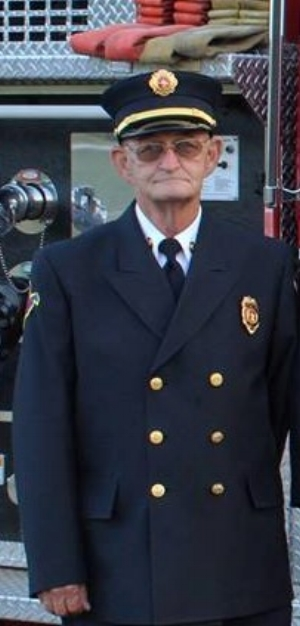 My stepdad looking smart in his fireman's uniform.