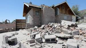 Damaged home, near epicenter, in Trona, California, US. (Photo: Reuters)