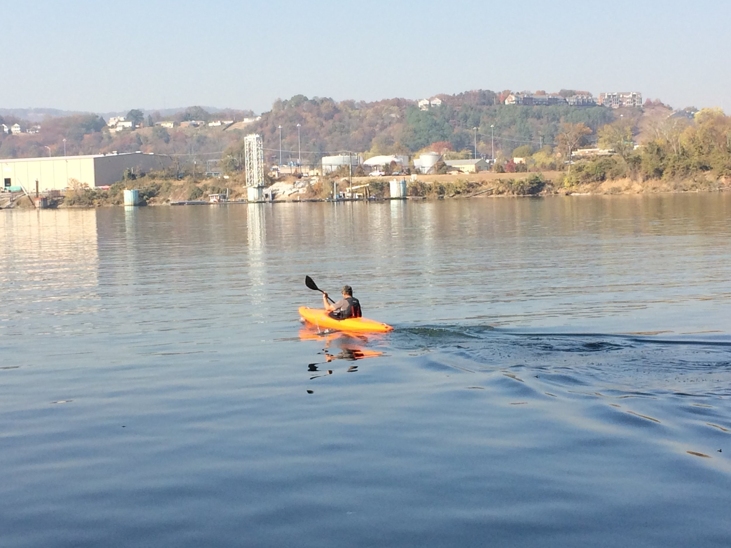 Kayaking on the Tennessee RIver